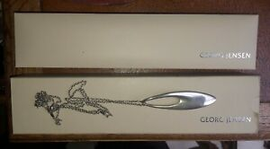 Georg Jensen. Sterling Silver  Zephyr Pendant with chain and double case.