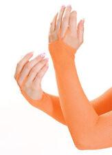 LEG AVENUE ORANGE FISHNET ARM WARMERS DISCO FANCY DRESS