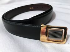 MISURI 100th Anniversary Mens Black/Brown Reversable Leather Belt-Made In Italy