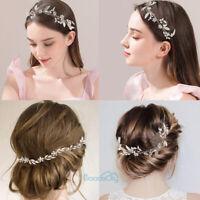 NEW Flower Crystal Rhinestone Wedding Bridal Headband Clip Hair Band Tiara