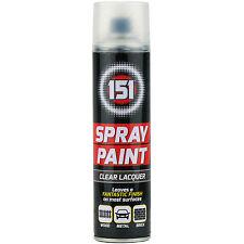 2 x 250ml  151 Clear Lacquer Aerosol Paint Spray Cars Wood Metal Walls Graffiti