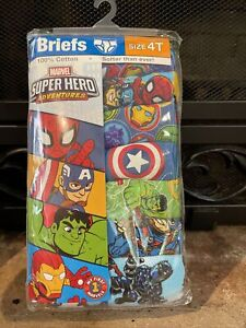Marvel Boys Toddler Size 4T Briefs (7 Pairs) Unopened Superheroes