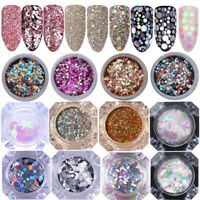 BORN PRETTY Holographic Nail Glitter Sequins Flakies Nail Art Decor