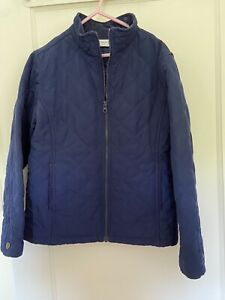 Talbot's Kids quilted navy blue Dress Coat size 12 girls