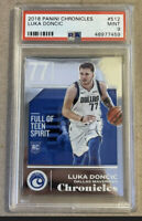 Luka Doncic 2018-19 Panini Chronicles Rookie RC #512 PSA 9 Chrome Prizm