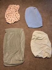 Lot of 4 Boy Crib Fitted Sheet Cover Carter's, Circo, Lambs Ivy, Parent's Choice