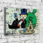 """30x20"""" Alec Monopoly """"Tea Time"""" New HD print on canvas fashion rolled up print"""