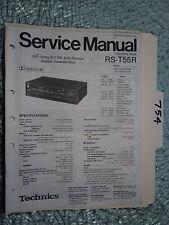 Technics rs-t55r service manual original repair book stereo tape deck player
