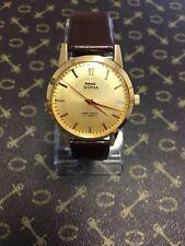 Vintage Wrist Watch HMT Sona Men's 17J Gold Pl. 1970's WORKING MINT