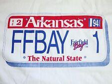 Vintage Arkansas Fairfield Bay FFB Park Camping Tourist License Plate T Shirt XL