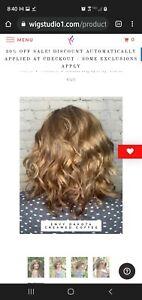 Dakota by Envy Lace Front Mono Part light brown wig