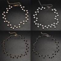 Simulated Pearl Branches Design Choker Necklace Fashion Wedding Party Jewelry