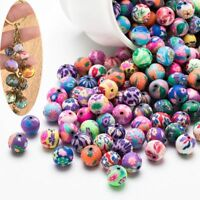 Jewelry Accessory 12mm Spacer Clay Loose Polymer Clay Mixed Color Beads Round