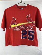 St Louis Cardinals Vintage Mark Mcgwire Cut Off / Half Starter T-Shirt Size M
