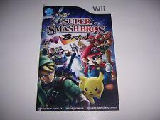 Super Smash Bros. Brawl Instruction Book Booklet Manual for Nintendo Wii
