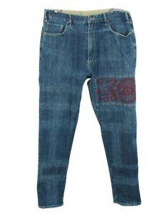 Etienne Ozeki Jeans W34 L32 Blue Tapered Fit Denim