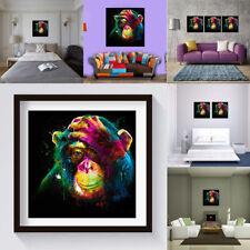 Peinture à l'Huile Tableau Abstraite Moderne Art Toile Gorille Coloré Murale NF