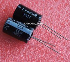 10PCS 22uF 400V Electrolytic Capacitor 105°C 13x21mm