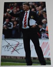 Louis van Gaal SIGNED 12x8 Photo Autograph Manchester United Football AFTAL COA