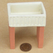 1:12 Scale Oblong Butler Scullery Sink & Stand Dolls House Kitchen Accessory