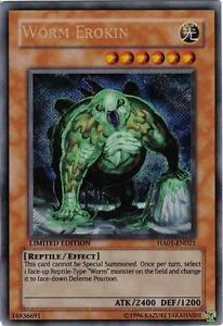 Yu-Gi-Oh Yugioh Worm Erokin HA01-EN021 Secret Near-Mint!