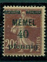 Memel auf französischer Marke Nr. 22 a postfrisch ** gepr. BPP