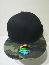 KB Ethos Premium Headwear Black Camo Snapback Cap Hat NWT