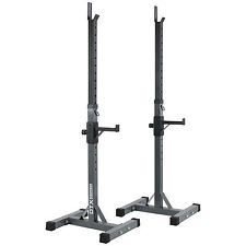 DTX Fitness Adjustable Squat Stands Body Building Squat Rack With Spotters Pair