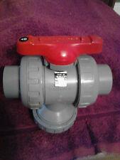 "New Asahi/America 1-1/2"" Type 23 3 Way ball valve CPVC"