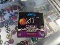 "KMC X10.93---10 SPEED 1/2"" X 11/128"" SILVER MTB-ROAD BIKE BICYCLE CHAIN"