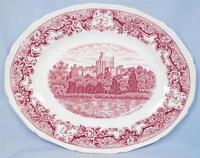Windsor Castle Platter Royal Swan Historic Castles Pink Transfer Serving AS IS