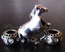 Mustang Horse Charm And Rhinestone Birthstone Beads For European Charm Bracelets
