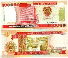 Mozambique Billet 100000 METICAIS 1993 P139 NEUF UNC
