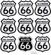 LOT of NINE (9) - ROUTE 66 STATE PATCHES embroidered iron-on ROAD SIGNS BIKER