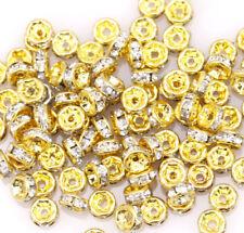 20 pieces perle 5mm strass intercalaire Doré rondelle 5 mm creation bijoux