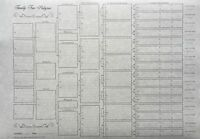 Family Tree Chart - Six Generation A3 (pack of 4) On Parchment