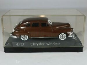 SOLIDO 1948 CHRYSLER WINDSOR 1:43 Metallic Brown Model #4513 w/Display Case