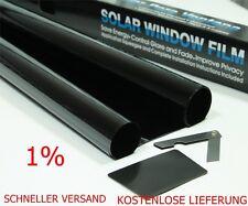 Autofolie Tönungsfolie 75 x6m Sonnenschutzfolie Ultra schwarz1% Fensterfolie