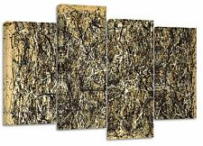 "jackson pollock/set of 4 canvas prints/  32""x 20"""