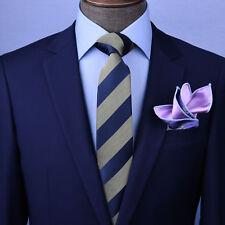 """Oliver Green & Blue Stripe 3"""" Necktie Business Formal Elegance Smart Men's Ego"""