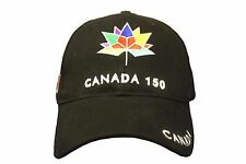 CANADA 150 YEAR ANNIVERSARY 1867-2017 COLORED LOGO EMBROIDERED BLACK HAT CAP