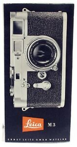 Original Vintage Leica M3 Rangefinder Camera Advertising Brochure Leaflet  1954