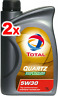 2 x Total Quartz Engine Motor Oil 9000 Future NFC Economy 5W30 - 1L Ford Volvo