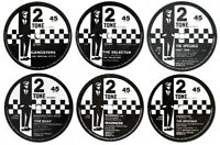 x6 85mm Record Label Vinyl Stickers Madness Specials Select Beat retro ska 2Tone