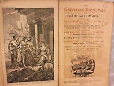 The Universal Dictionary of Trade & Commerce 2 Vols 1766 by Malachy Postlethwayt