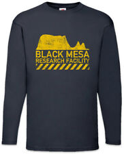 Black Mesa Men Long Sleeve T-Shirt Research Logo Symbol Facility Gamer Nerd