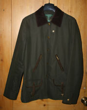Town & country RALPH LAUREN barbour style jacket UK 8 10 leather suede trim