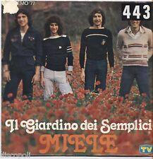 """IL GIARDINO DEI SEMPLICI - Miele - VINYL 7"""" 45 LP 1977 VG+/VG- CONDITION"""