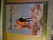 Vintage The Peter Paul and Mary Song Book Sheet Music Warner Bros Pepamar Music