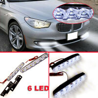 2x Xenon White Embed Mounting 6 LED DRL Daytime Running Driving Lights Fog Lamps